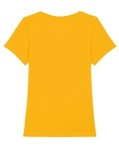 le tshirt motarde jaune est confortable comme tous les tee shirts fille au guidon