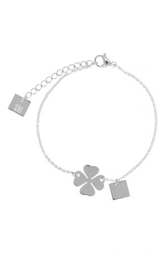 ZAG Bijoux Armband – Klavertje Vier Zilver