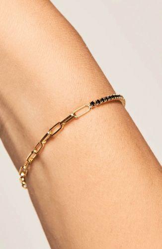 PD Paola Armband – Mirage Zwart Goud