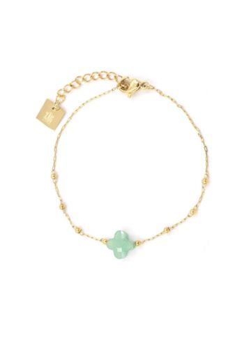 ZAG Bijoux Armband – Groen Klavertje Goud