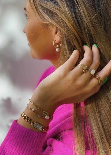 ZAG Bijoux Armband – Cornaline Stenen Goud