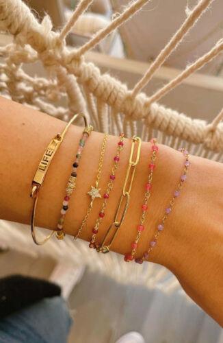 ZAG Bijoux Armband – Violet Kraaltjes Goud
