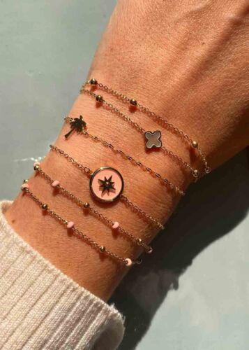 ZAG Bijoux Armband – Licht Roze Kraaltjes Goud
