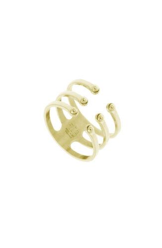 ZAG Bijoux Ring – Drie Lagen Goud
