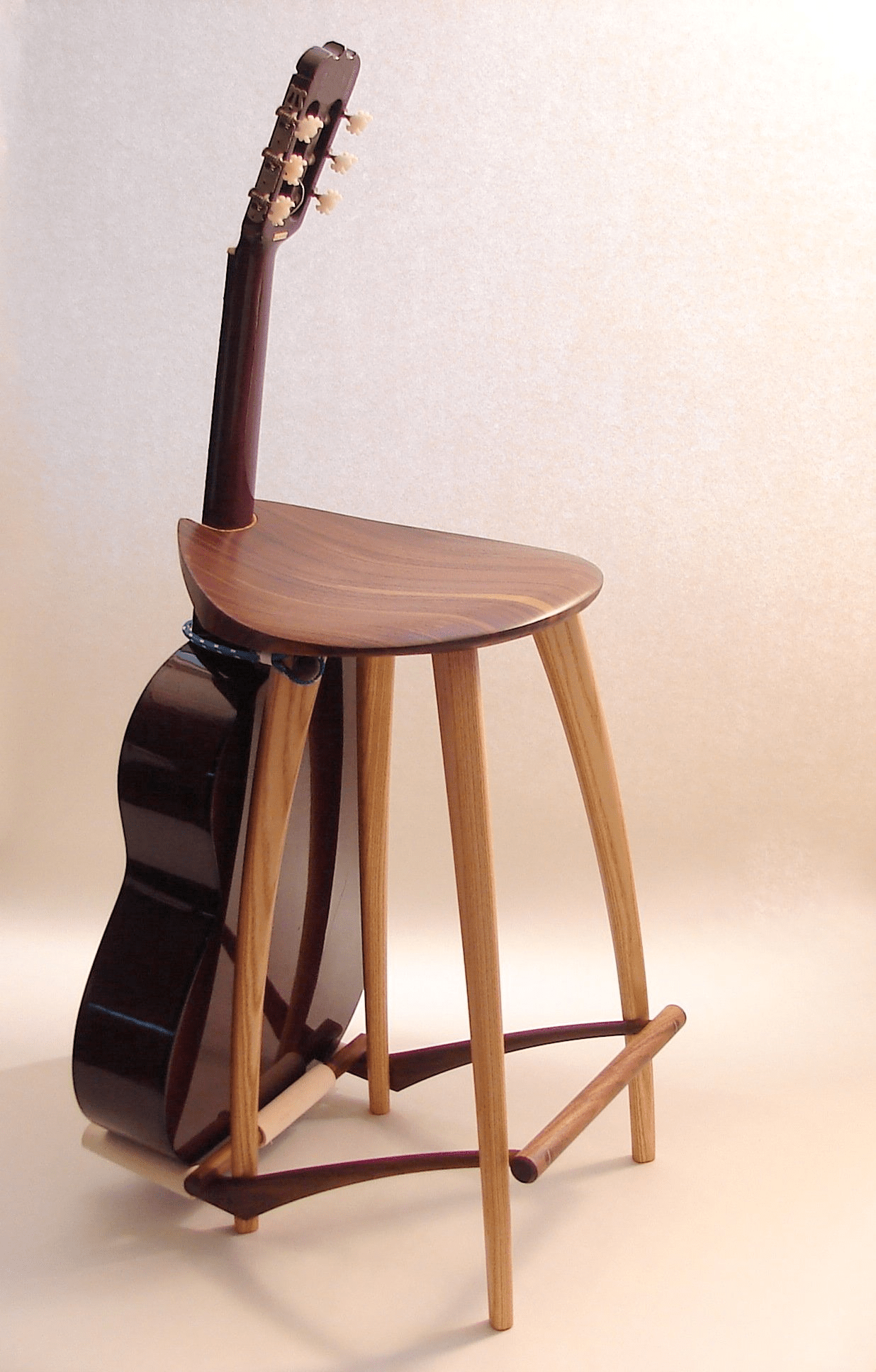 classical guitar chair fisher price rocking stool stand fillingham art furniture design yacht braid creates a restraint to hold the securely this is easily removed from either end and not required just an extra