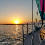 Spinnaker sailing into the sunset