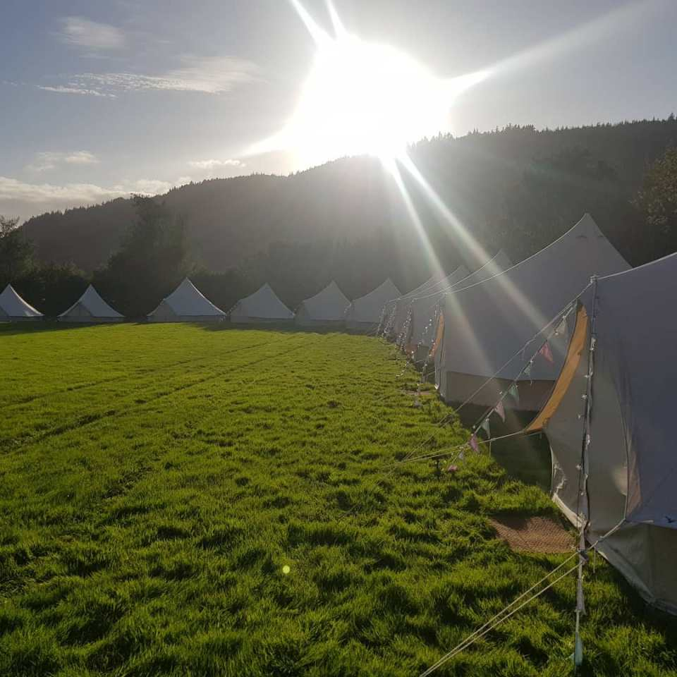 glamping bell tents - glamping accomodation for weddings and events