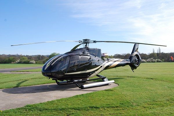 helicopter on helipad - transport options available for fillongley hall, warwickshire wedding venue - exclusive wedding venue - midlands wedding venue