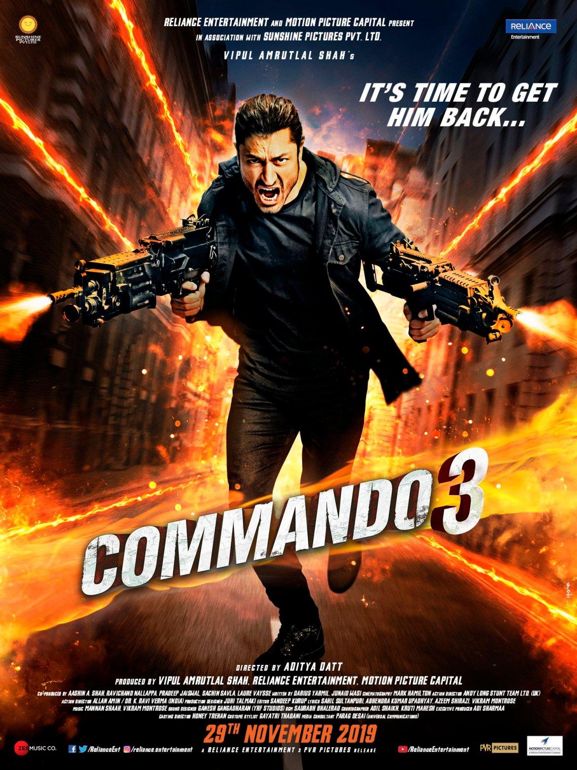 Commando 3 | Official Trailer | Vidyut, Adah, Angira, Gulshan  | Vipul Amrutlal Shah | Aditya Datt | 29 Nov