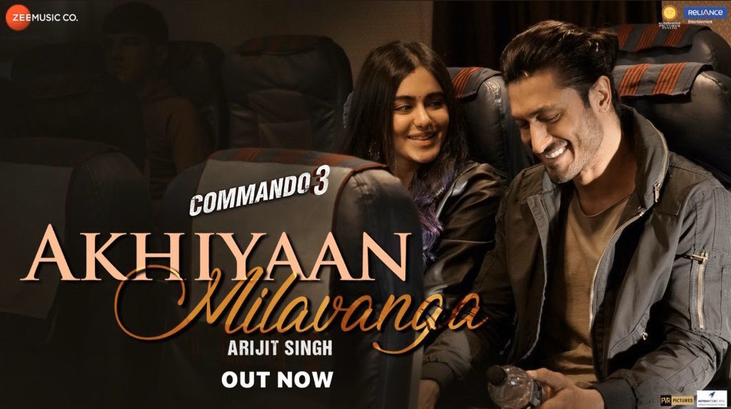 Akhiyaan Milavanga – Commando 3 | Vidyut Jammwal, Adah Sharma | Arijit Singh & Sruthy S | Mannan S