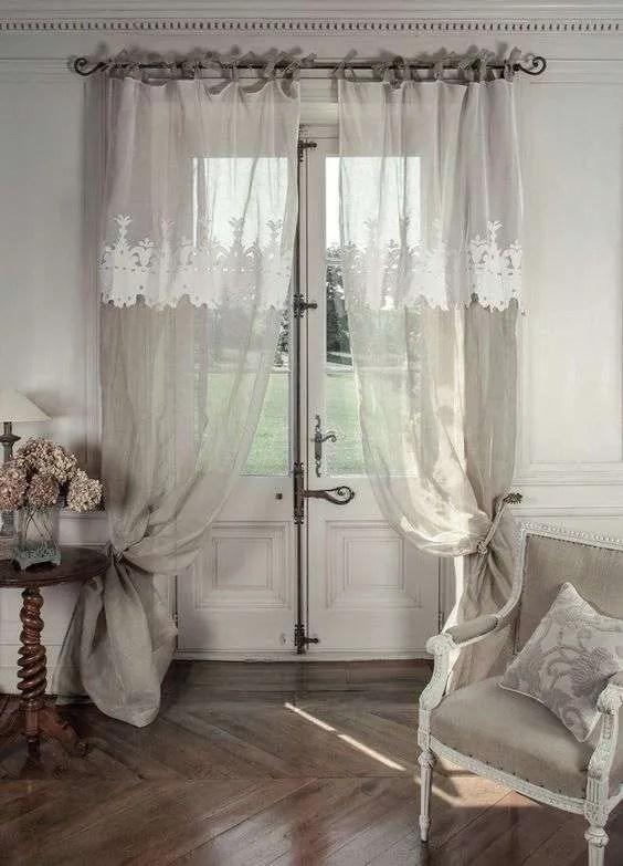 Atelier pannello tenda per balcone shabby chic con rouche 17. Tende Stile Provenzale Qualche Idea Per Voi Fillyourhomewithlove