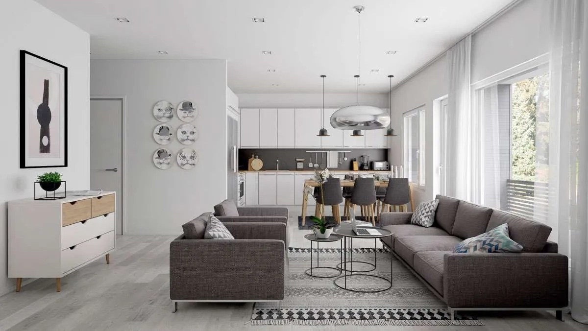 Open space come dividere zona living e cucina  Fillyourhomewithlove