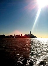 Not a great capture, but I was in love with the way the sunbeam shone down on the Freedom Tower.