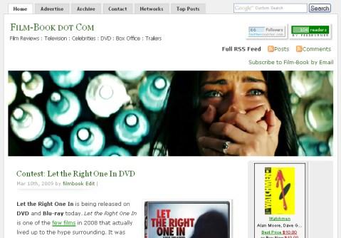 Film-Book dot Com Screenshot, Version 1.0
