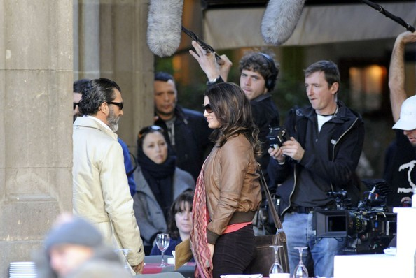 Antonio Banderas Gina Carano Haywire 2011 Set Photos 8