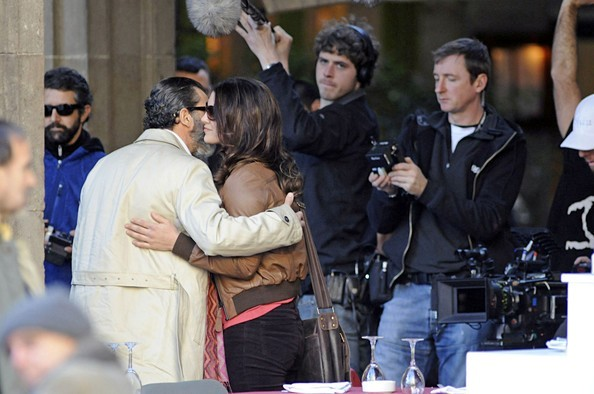 Antonio Banderas Gina Carano Haywire 2011 Set Photos 9
