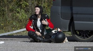 Rooney Mara, The Girl With the Dragon Tattoo, Motorcycle Training, 1