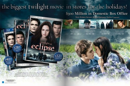 The Twilight Saga: Eclipse DVD, Blu-ray Advertisement