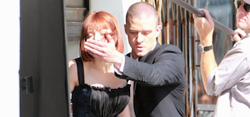 Amanda Seyfried, Justin Timberlake, Now, 2011, Set