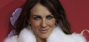 Elizabeth Hurley, smiling