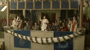 John Hannah, Lucy Lawless, Craig Walsh Wrightson, Spartacus: Gods of the Arena, The Bitter End, 01