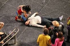 Adrianne Palicki stunt double, needle, Wonder Woman 2011 Set Photo, 04
