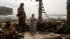 Jason Momoa, Emilia Clarke, Game of Thrones, Winter is Coming, 02