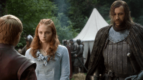 Rory McCann, Sophie Turner, Jack Gleeson, Game of Thrones, The Kingsroad, 01