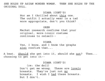 Wonder Woman 2011, Script Excerpt, 01