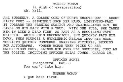 Wonder Woman 2011, Script Excerpt, 02