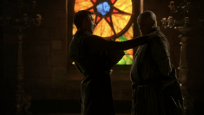 Conleth Hill, Aidan Gillen, Game of Thrones, The Wolf and the Lion