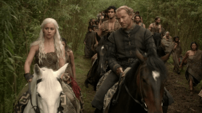Emilia Clarke, Iain Glen, Game of Thrones, Lord Snow, 01