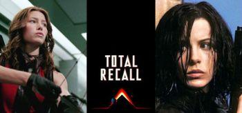 Jessica Biel, Kate Beckinsale, Total Recall 1990 Logo