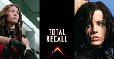 Jessica Biel, Kate Beckinsale, Total Recall 1990 Logo