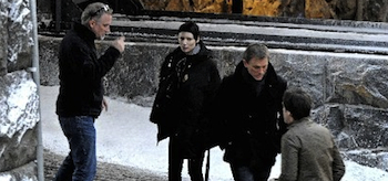 Rooney Mara, Daniel Craig, David Fincher, The Girl with the Dragon Tattoo, Sweden Set, 02
