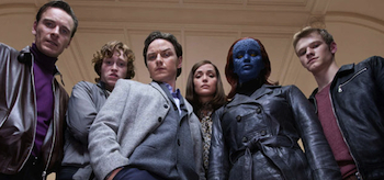 James McAvoy, Michael Fassbender, Rose Byrne, Caleb Landry Jones, Lucas Till, Jennifer Lawrence, X-Men: First Class, 2011