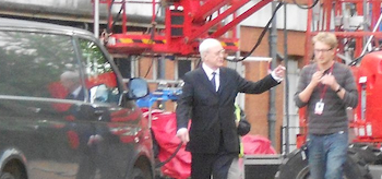Michael Caine, The Dark Knight Rises, 2012, Set Photo, 02