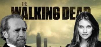 Scott Wilson, Lauren Cohan, The Walking Dead Logo
