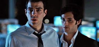 Zachary Quinto, Penn Badgley, Margin Call, 2011