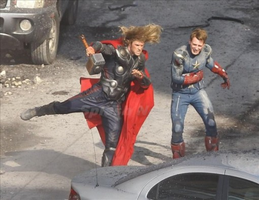 Chris Hemsworth, Chris Evans, The Avengers 2012, Set 01