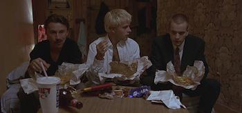 Robert Carlyle, Ewan McGregor, Jonny Lee Miller, Trainspotting 1996