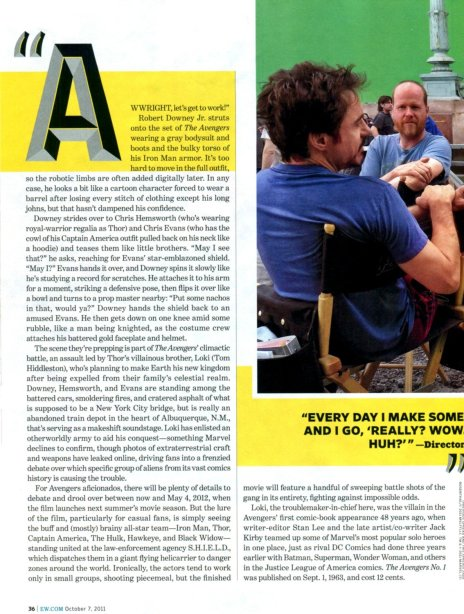 The Avengers Entertainment Weekly October 2011 article, 01
