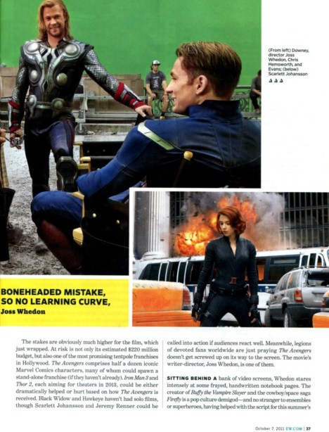 The Avengers Entertainment Weekly October 2011 article, 02