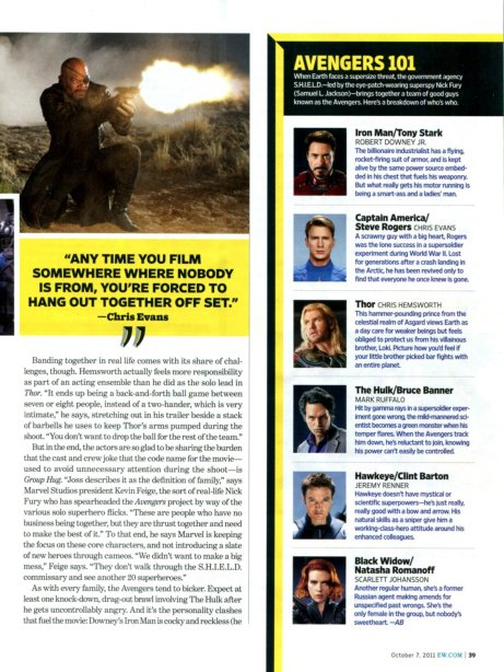 The Avengers Entertainment Weekly October 2011 article, 04