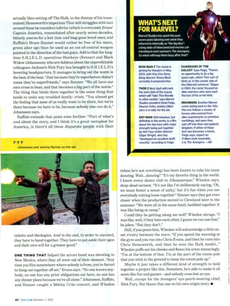 The Avengers Entertainment Weekly October 2011 article, 05