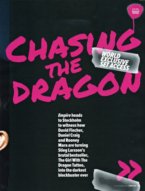 The Girl with the Dragon Tattoo, Empire Magazine November 2011 Article, 01