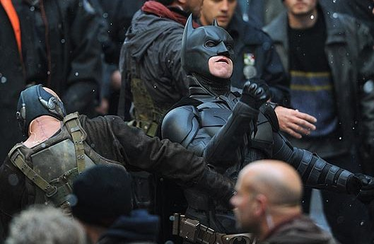 Christian Bale, Batman, Tom Hardy, Bane, The Dark Knight Rises, 01