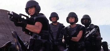 Casper Van Dien, Dina Meyer, Starship Troopers