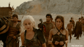 Roxanne McKee Elyes Gabel Emilia Clarke Game of Thrones The North Remembers