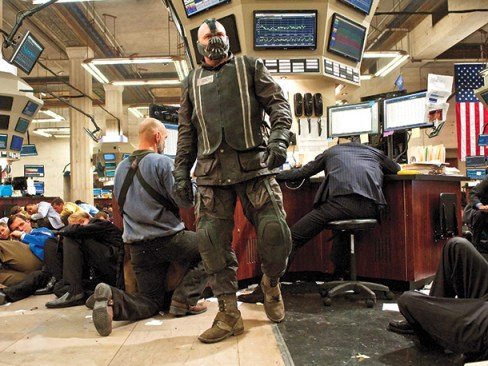 Tom Hardy The Dark Knight Rises Stock Exchange